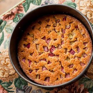 Impossible Rhubarb Pie.