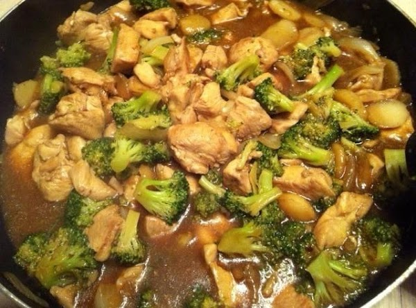 Add cooked chicken and reserved broth to pan. Cook stirring constantly, until sauce is...