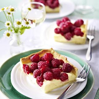 Lemon Tart with Raspberries.