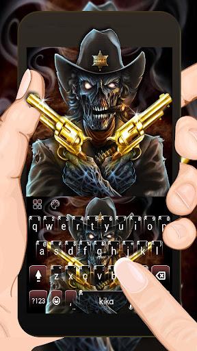 Western Skull Gun Keyboard Theme 1.0 screenshots 1
