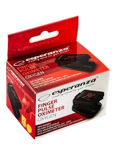 Puls-Oximetru Esperanza Oxygen, SPO2 35%-99%, Display LED, Negru