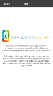 Appmakenonline preview app - náhled
