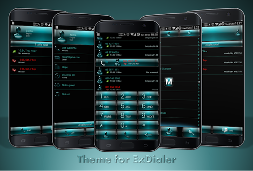 Dialer Dusk AquaGreen Theme