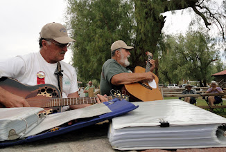Photo: The Kuddabin Brothers share their wonderful music at the Death Valley '49ers Encampment.