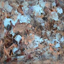 "Photo: ""Rhinopharyngite"", Acrylique sur toile, 66x70cm. Vertical."