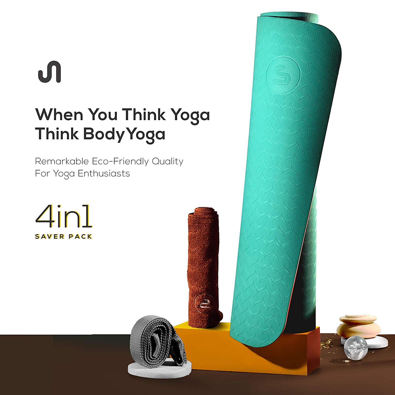 BODYYOGA Eco Friendly Exercise Meditation Mat