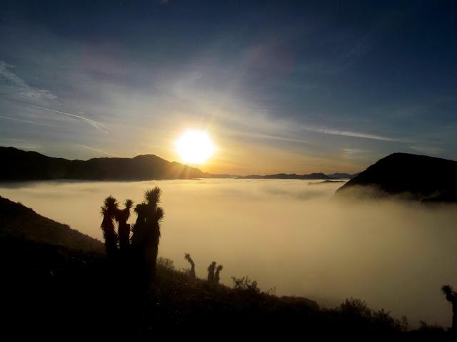 Sunrise over a foggy Hidden Valley