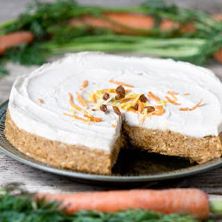 Raw Carrot Cake With Maple Cashew Frosting [Vegan, Gluten-Free].