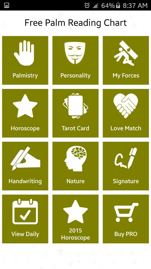 Free Palm Reading Chart - Android Apps on Google Play