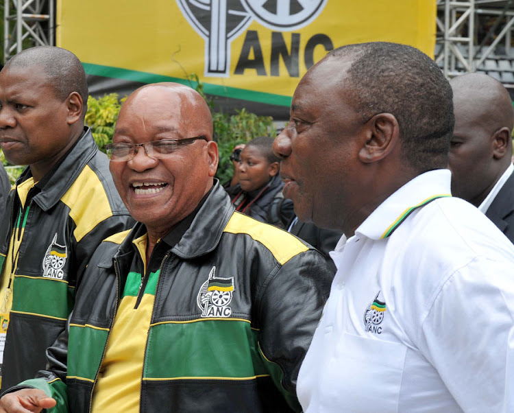 President Jacob Zuma (left) and deputy ANC leader Cyril Ramaphosa. File Picture: ANC MEDIA PIX