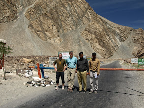 Photo: Police Check Post past Indus Bridge. Entering Ghangche District from Skardu