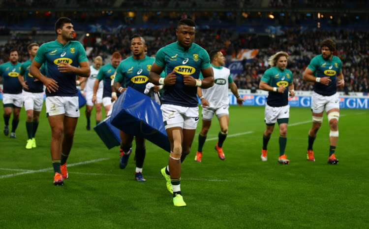 Aphiwe Dyantyi during the Castle Lager Outgoing Tour match between France and South Africa at Stade de France on November 10, 2018 in Paris, France.