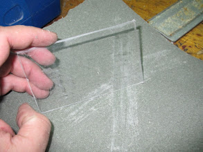 Photo: Aunque no se aprecia, están hechas las marcas del pefil por donde debo cortar
