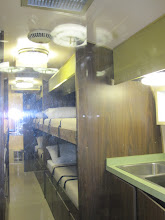 Photo: Sleeping quarters and kitchen of the Mobile Quarantine Facility
