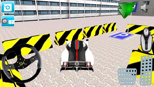 3Dスポーツカーの駐車場