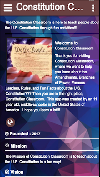 Constitution Classroom- screenshot