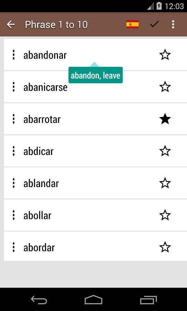 Conjugaison Du Verbe Espagnol Pour Android Apk Telecharger