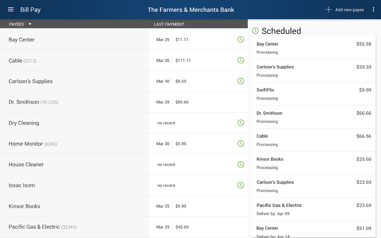 The Farmers & Merchants Bank- screenshot