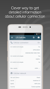 LTE Cell Info: Network Analyzer, WiFi Connection Screenshot