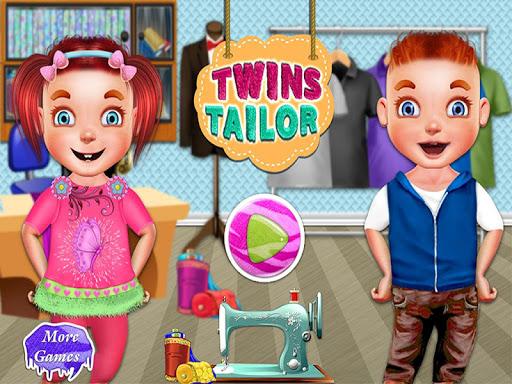 双子テーラーデザイナーブランドの服の女の子のゲーム