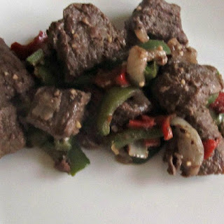 Steak Tips with Peppers and Onions