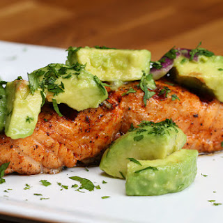 1. Grilled Salmon With Avocado Salsa