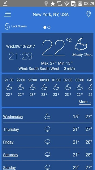 weather pro screenshot for Android