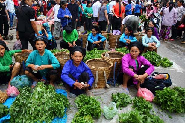 Le marché ethnique de Hoang Su Phi