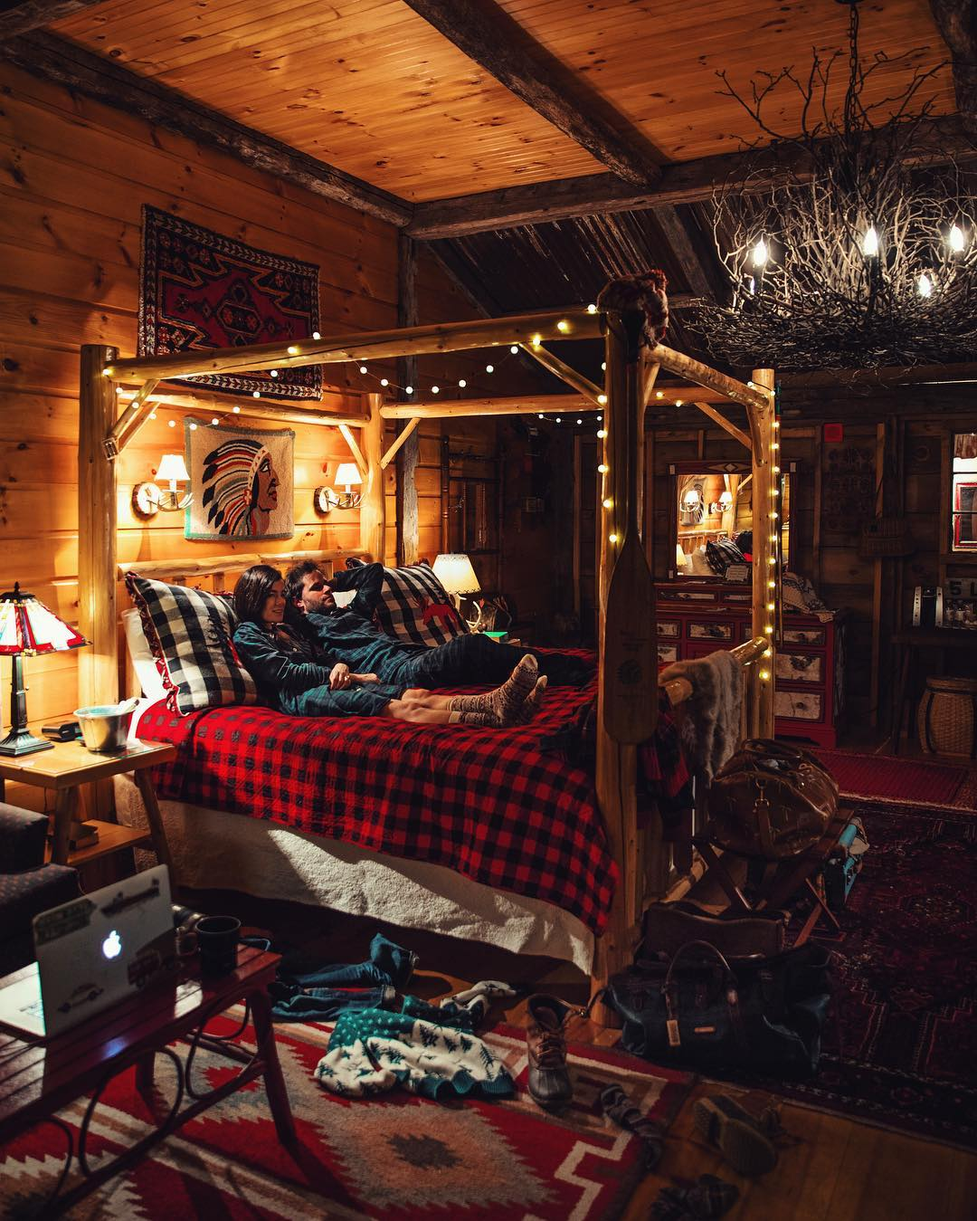 cozy log cabin interior design
