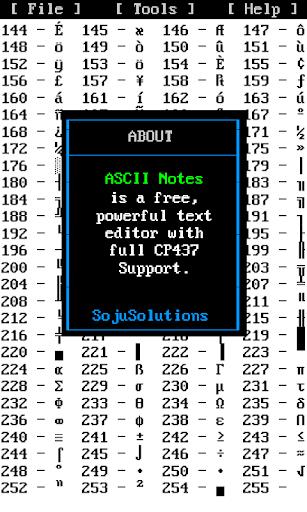 ASCII Notes