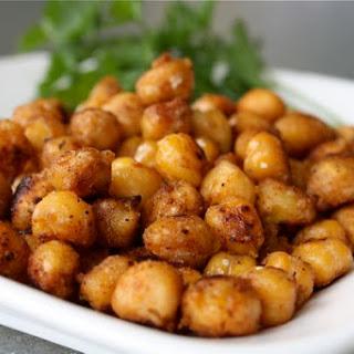 Pan Fried Cajun Chickpeas.