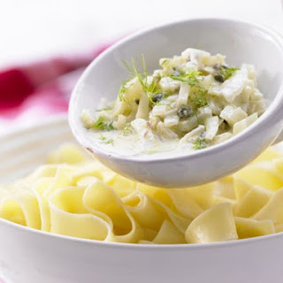 Ribbon Pasta with Fennel and Caper Sauce
