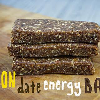 Lemon Date Energy Bars