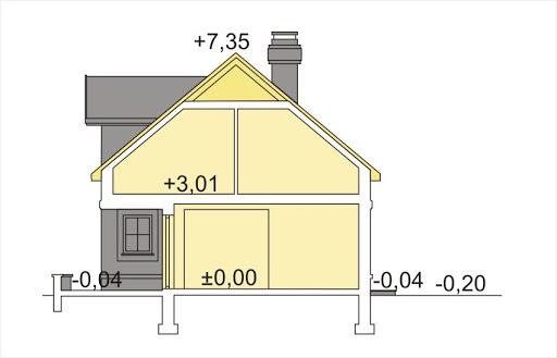 Alicja wersja A z podwójnym garażem - Przekrój