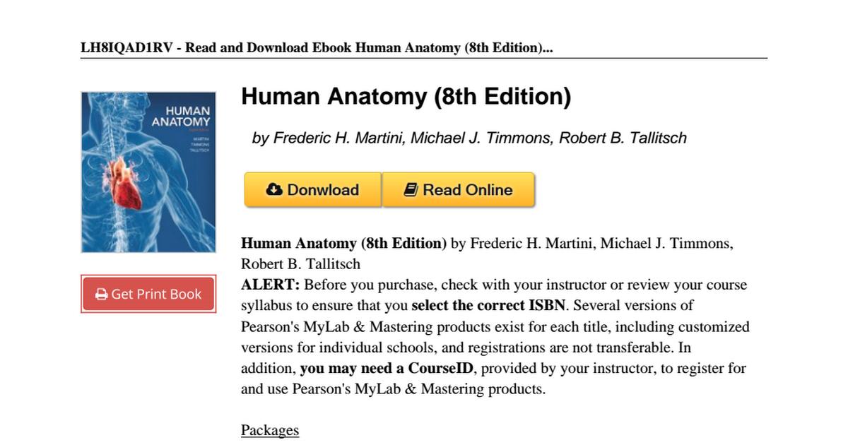 Human Anatomy Edition Frederic Martini 0321883322pdf Google Drive