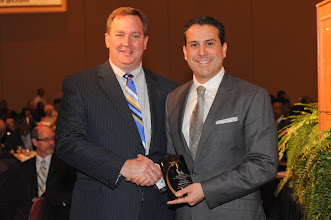 "Photo: ""Sharing the Dream"" Award Winner  Robert Rivera with Rev. Andy Mangum"