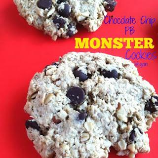 Chocolate Chip PB MONSTER Cookies - Vegan Recipe
