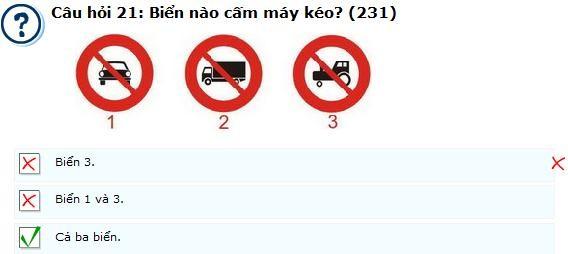 Câu hỏi 231 - câu hỏi khó thi lý thuyết bằng lái ô tô