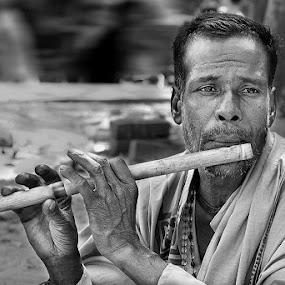 Baul by Soumen  Basu Mallick - People Musicians & Entertainers ( baul, flute, musician )