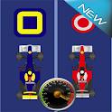 2 voitures avec accélérateur icon