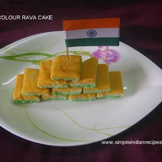 Tricolour Rava Cake