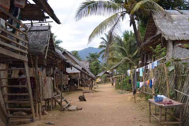 Nuit chez l'habitant à Muang Ngoi