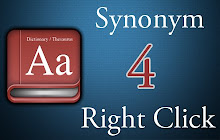Thesaurus: Synonym 4 Right Click