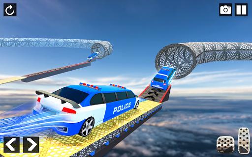 Police Limo Car Stunts - Mega Ramp Car Racing Game android2mod screenshots 5