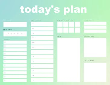 Today's Plan - Daily Planner template