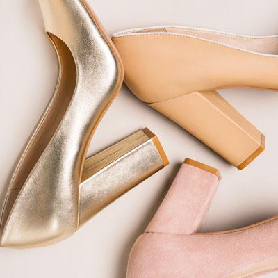 Neutral block heels