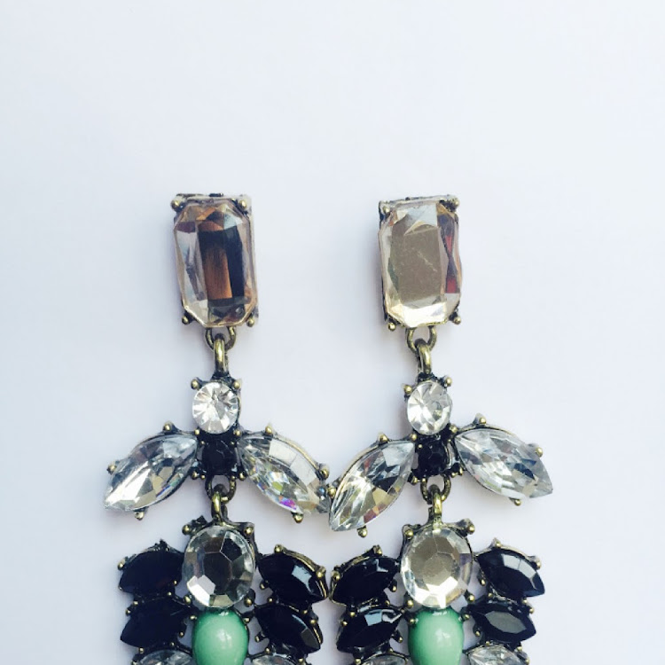 E047 - M. Lady of Charm Faux Gem Earrings by House of LaBelleD.
