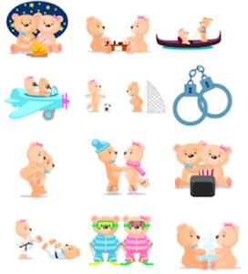 Teddy Bear Emoji(Stickers) screenshot 3
