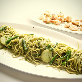Cooking Italy - Spaghetti and Pesto, Green Beans, Potatoes