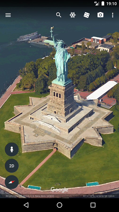 Google Earth: captura de pantalla